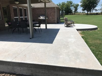 Completed concrete patio project